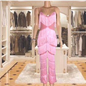 Pink Fringe Jumpsuit
